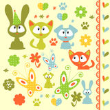 Baby animal elements Stock Image
