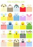 Baby animal face calendar Stock Photos
