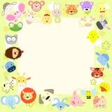 Baby animal face frame Royalty Free Stock Photo