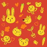 Baby animal pattern Stock Images