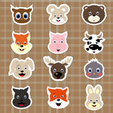 Baby animal stickers Royalty Free Stock Photo
