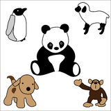 Baby Animal Toys royalty free illustration
