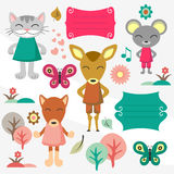 Baby animals Royalty Free Stock Images