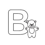 Baby  animals  alphabet  kids coloring  page isolated. Baby  animals  alphabet  kids coloring  page Stock Photography