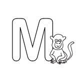 Baby  animals  alphabet  kids coloring  page isolated Stock Photos