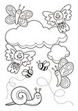 Baby animals coloring book Stock Image
