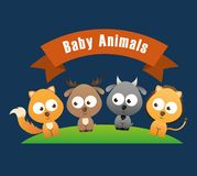Baby animals design Royalty Free Stock Images