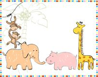 Baby animals. Hand draw illustration Royalty Free Stock Images
