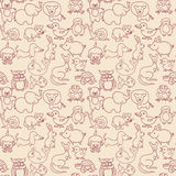 Baby animals icons seamless pattern royalty free illustration