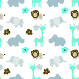 Baby  animals seamless Pattern Stock Photos