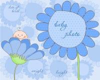 Baby-Ankunfts-Feld für Foto Stockfoto
