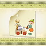 Baby anniversary card Stock Images