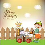 Baby anniversary card Royalty Free Stock Photos