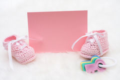 Baby Announcement Royalty Free Stock Photo