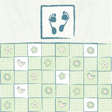 Baby announcement. Happy Baby boy arrival announcement card Stock Images