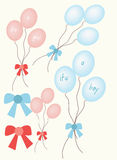 Baby announcement balloons Stock Image