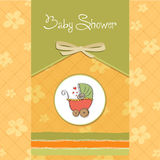 Baby announcement card Royalty Free Stock Image