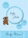 Baby announcement card with Frame. Blue Baby announcement card with Frame Royalty Free Stock Images