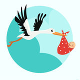 Baby announcement card. vector illustration Stock Photo