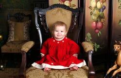 Baby in Antieke Zaal Stock Fotografie