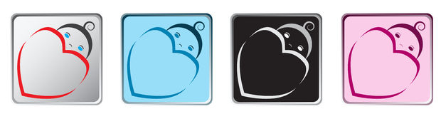 Baby App Icons Stock Photography