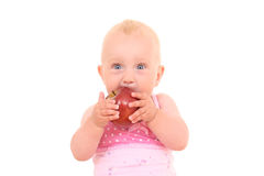 Baby and apple Royalty Free Stock Photo