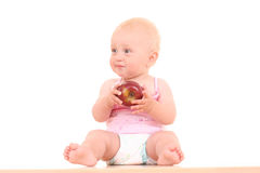Baby and apple Royalty Free Stock Images