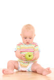 Baby and apple Royalty Free Stock Image