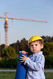 Baby architect Royalty Free Stock Images