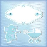 Baby arrival Stock Images