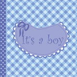 Baby arrival announcement for boy Stock Images