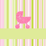 Baby arrival announcement card Stock Photos
