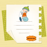 Baby arrival announcement card. Customizable in  format Stock Photography