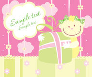 Baby arrival announcement card Stock Images