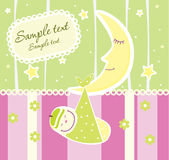 Baby arrival announcement card Stock Photography