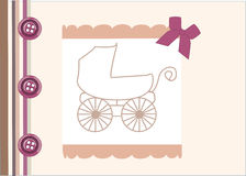 Baby  arrival announcement card Royalty Free Stock Photo