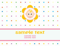 Baby arrival announcement card vector illustration
