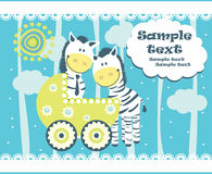 Baby arrival announcement card Royalty Free Stock Photography