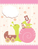 Baby arrival announcement card. Vector Stock Image