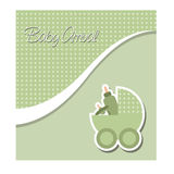 Baby arrival or baby shower card Stock Image