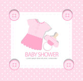 Baby arrival or baby shower card Stock Photography
