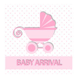 Baby arrival or baby shower card Stock Images