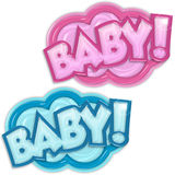 Baby arrival badges Stock Images