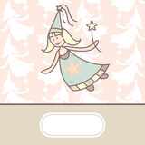 Baby arrival card. With fairy royalty free illustration