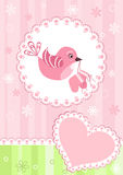 Baby arrival card. Vector illustration Stock Photography