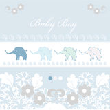 Baby arrival card stock image