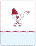 Baby arrival card Stock Photo