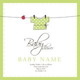 Baby arrival card. Cute card with copy space Royalty Free Stock Photo