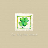 Baby arrival card. With cute abstract clover-leaf royalty free illustration
