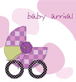 Baby arrival card. As background, decorations and designs card Stock Photos